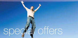 person happy about a special offer